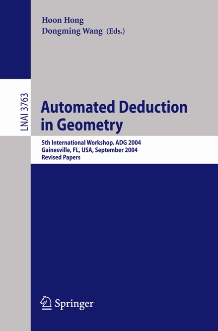 Automated Deduction in Geometry 2004